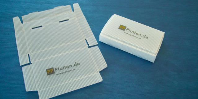 Box aus PP-Platte gestanzt Verpackung Polypropylen Stegplatte
