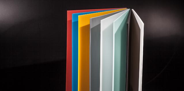 Kunststoffplatten aus PP in unterschiedlichen Farben
