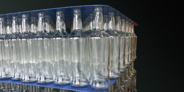 Zwischenlage aus PP-Stegplatte für Glasflaschen