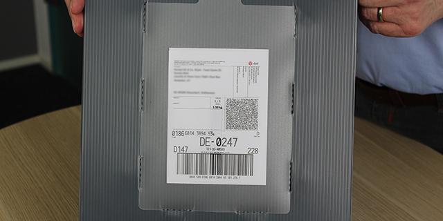 Multiversandbox Dokumententasche Verschluss ohne Klebstoff mit Klett